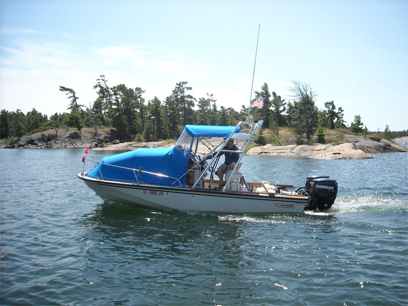 Photo: GAMBLER on small craft route, Georgian Bay, Ontario.
