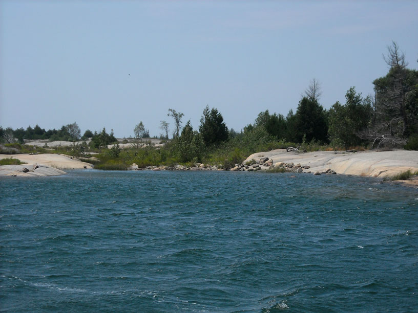 Photo: Unnamed cove on the Small Craft Route in Georgian Bay.