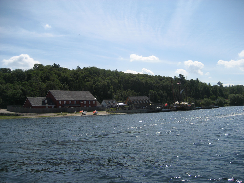 Photo: Historical harbor re-created at Penetanguishene in Georgian Bay.