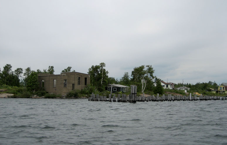 Photo: Ruins at Key River Inlet.