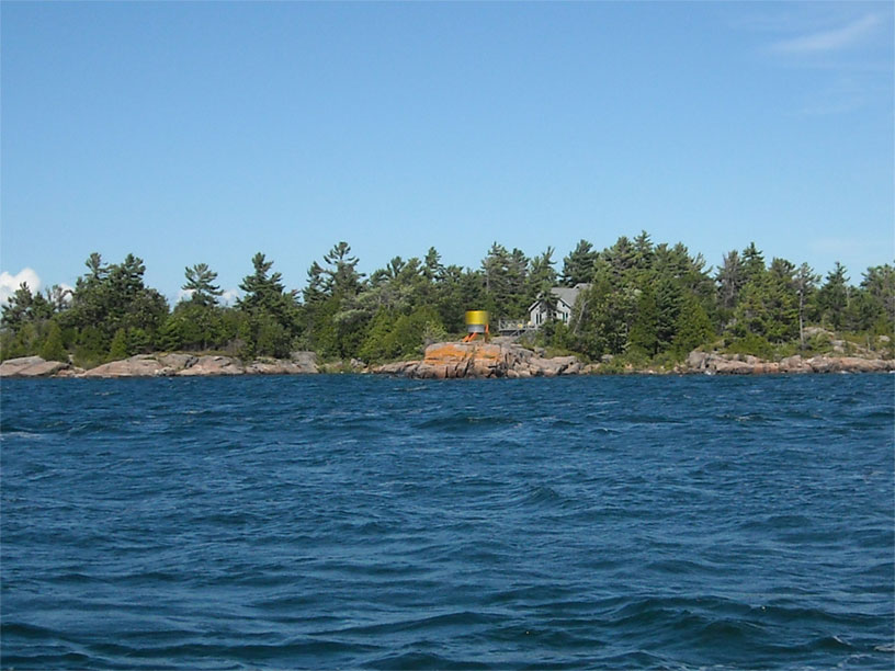 Photo: Modern barrel at Pointe Au Baril, Georgian Bay, Ontario.