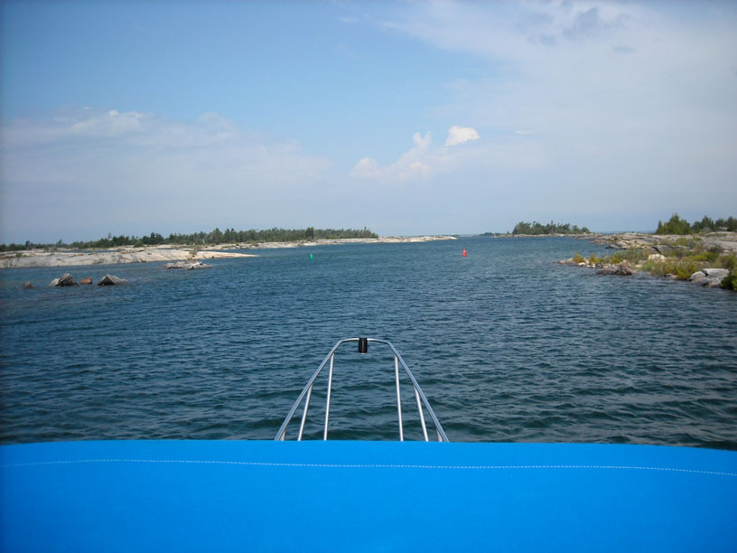 Photo: ROGERS GUT approaching from the south, on the Small Craft Route in Georgian Bay.