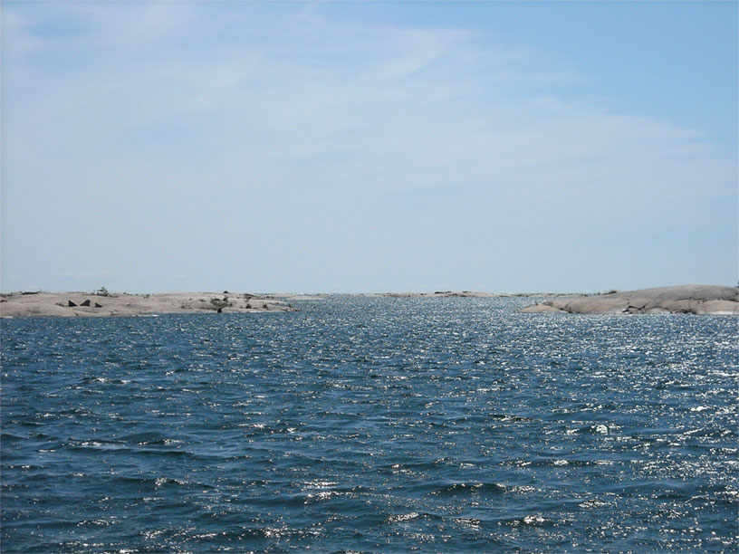 Photo: Small craft route near Hangdog Reef, Georgian Bay, Ontario.