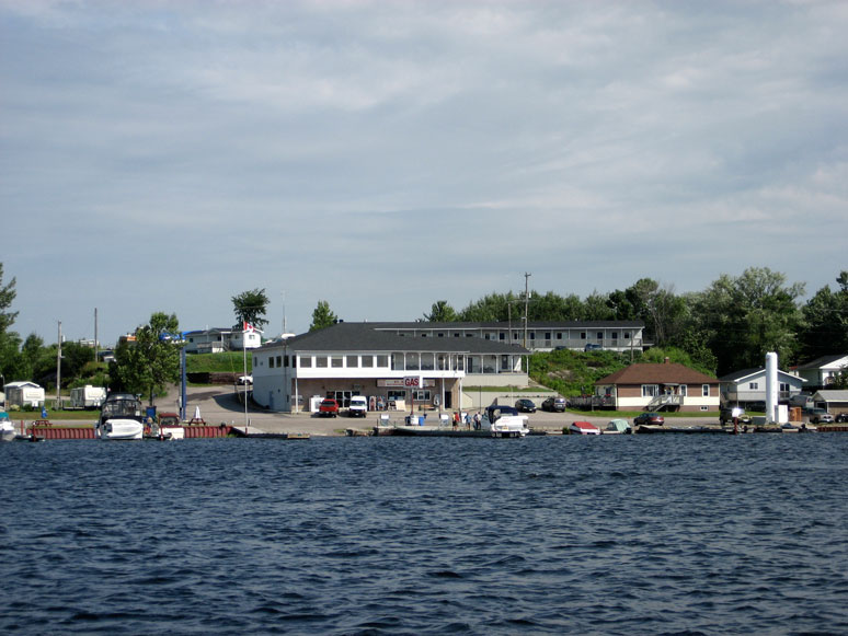 Photo: St. Amant's Marina docks at Byng Inlet, Ontario.