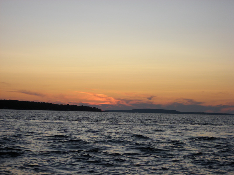 Photo: Sunset seen from off Penetanguishene in Georgian Bay.