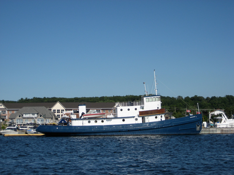 Photo: Large tug converted to yacht.
