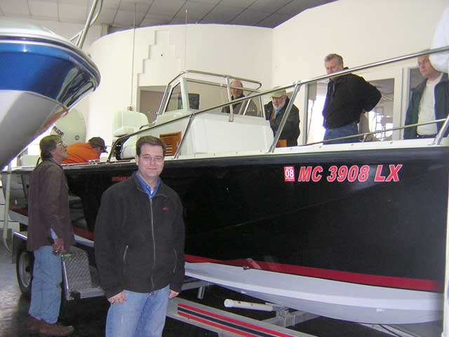 Photo: GLBWCC visit to Gregory Boat Co. to inspect OUTRAGE 22.