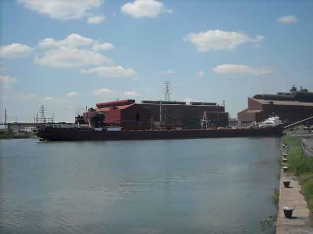 Photo: HON. JAMES L. OBERSTAR backing into turning basin on Rouge River