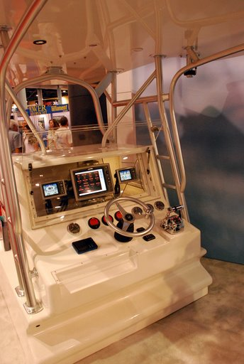 Photo: SmartCraft demonstration console at Miami International Boat Show, February 2008
