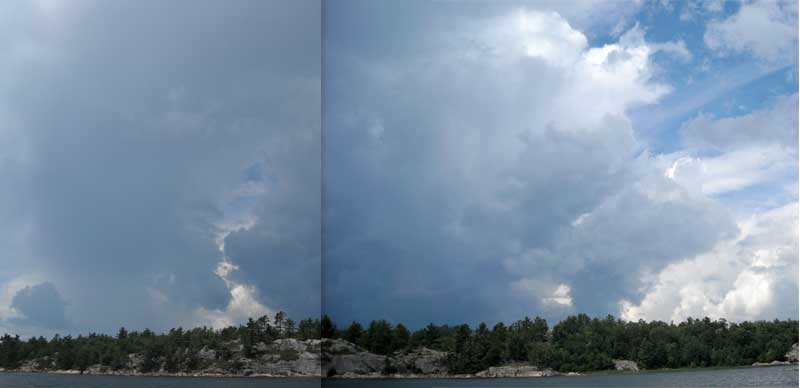 Photo: Thunderstorm cell just north of Beardrop Harbour, August 1, 2008