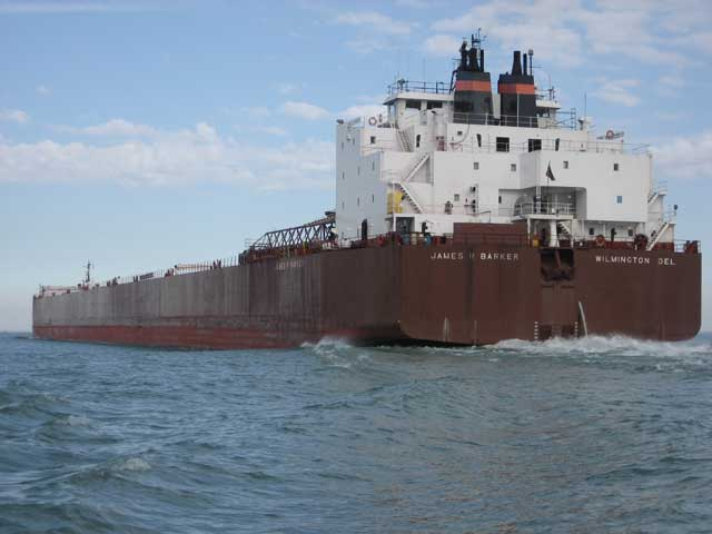 Photo: 1004-foot JAMES R. BARKER underway in Lake Erie