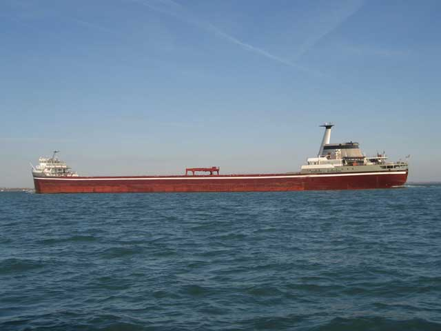 Photo: The beautiful EDWARD L. RYERSON underway on Lake Erie, November 2008