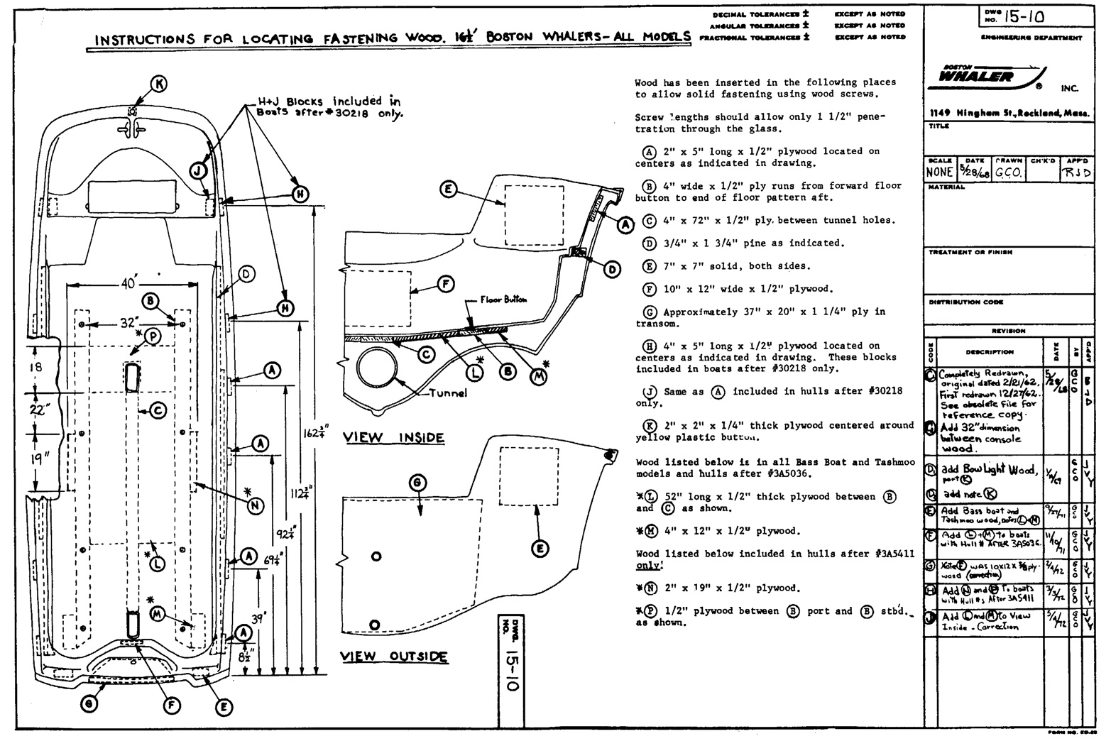 16WoodDWG15 10 classic whaler boston whaler reference available drawings boston whaler wiring harness at bakdesigns.co