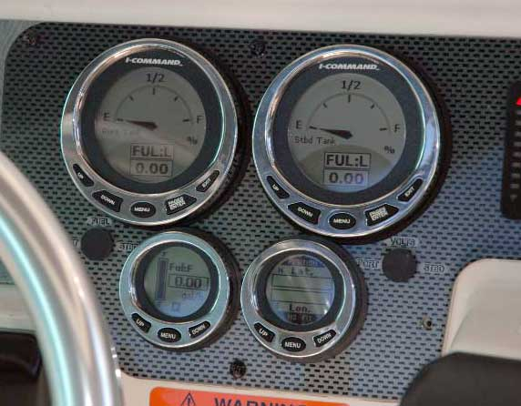 PHOTO: Close Up of I-Command Gauges