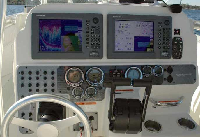 PHOTO:  Instrument panel with seven I-Command gauges