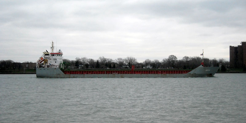 Photo: Vessel SOFIA downbound in Detroit River, December 16, 2011