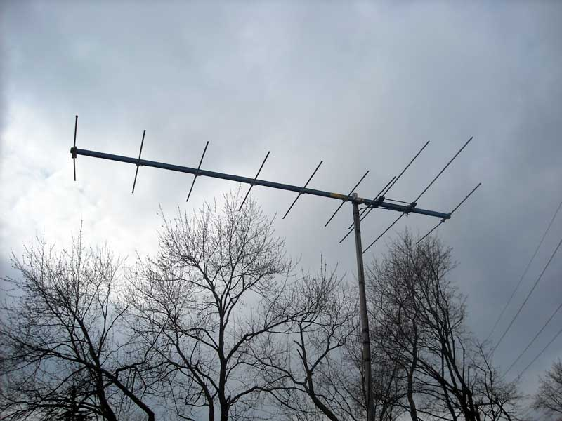 Photo: Ten element TV antenna