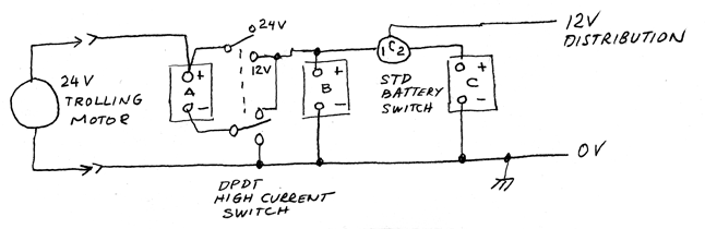 24 volt battery system diagram 24 image wiring diagram mixed 12 volt and 24 volt primary power three batteries on 24 volt battery system