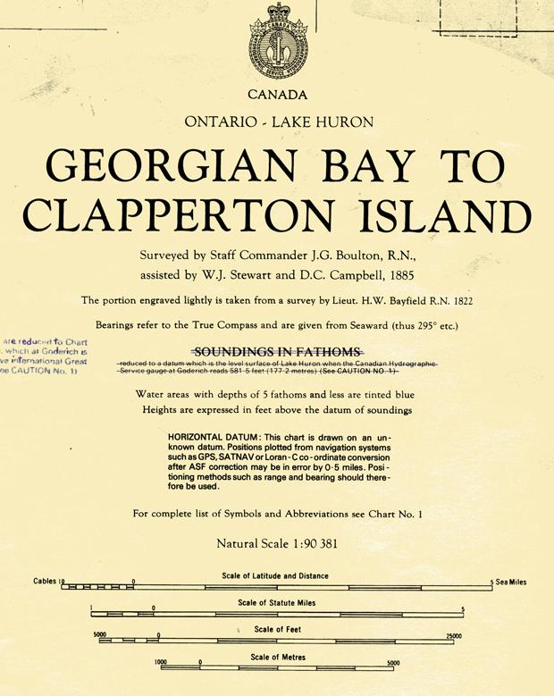 Segment of Canadian Chart 2286, 1993 Edition
