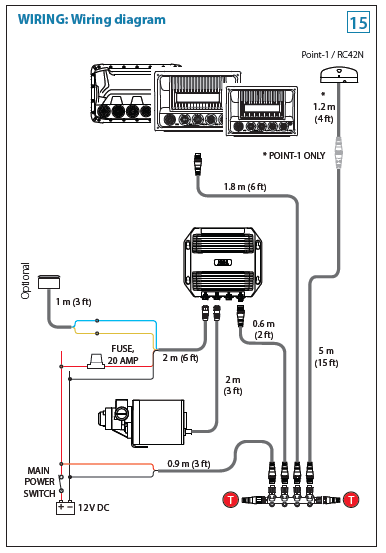 Pictorial diagram of wiring for Outboard Pilot