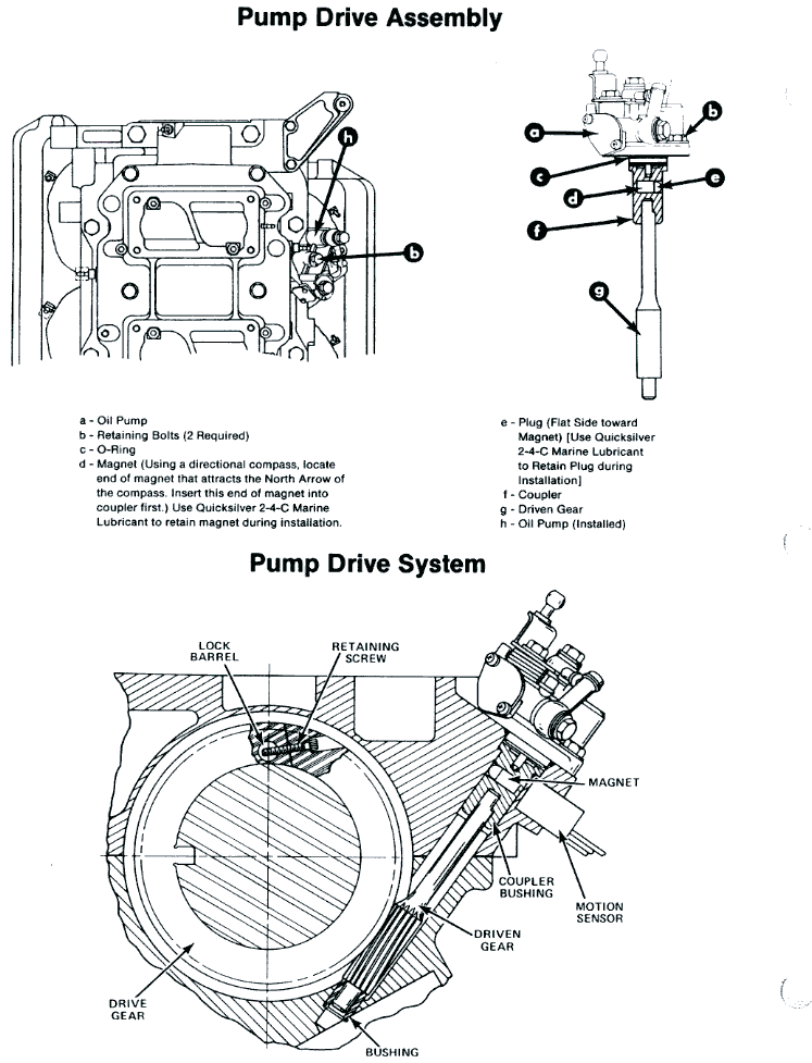 dwg: diagram of mercury oil injection system dwg: mercury oil injection