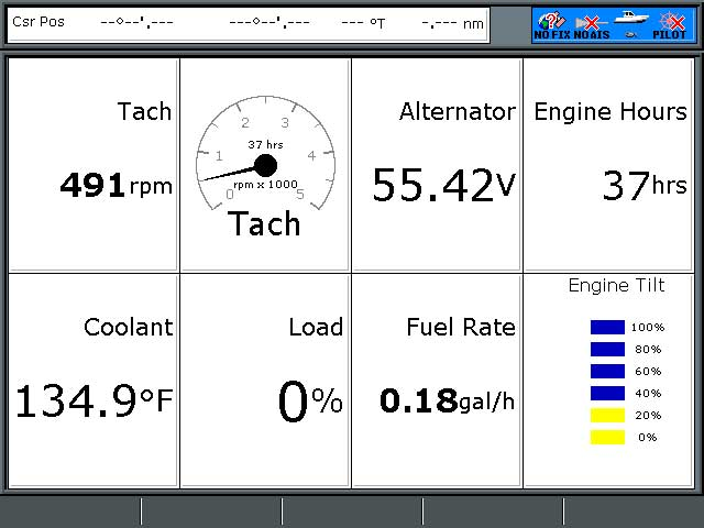connecting seatalk<sup>ng< sup> to nmea 2000 backbone moderated graphic screen shot of raymarine a57d showing e tec engine data sent via nmea
