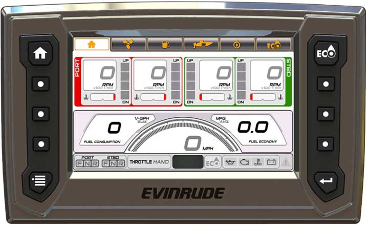 Evinrude ICON Touch display screen