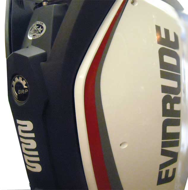 Photor: Evinrude E-TEC 74-degree engine with side panels
