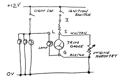 trimGaugeCircuit504x343 tilt and trim gauge wiring diagram wiring diagram simonand faria trim gauge wiring diagram at suagrazia.org