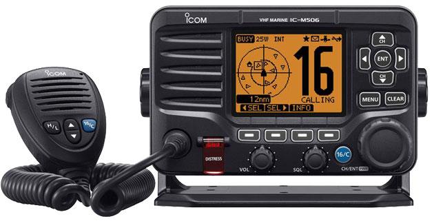 Photo of front panel of radio.