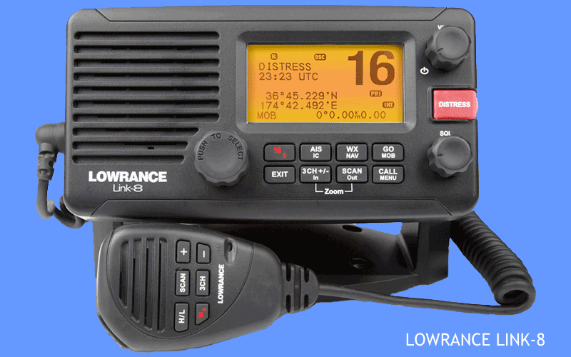 Lowrance LINK-8 VHF Marine Band radio with AIS receiver and NMEA-2000 interface
