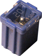 Low-profile Jcase 20-Ampere fuse