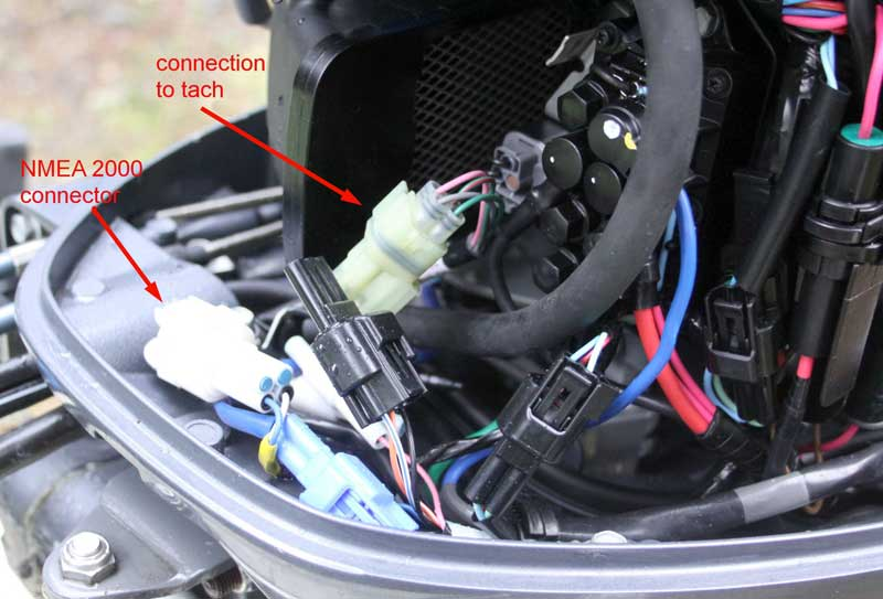 yamahaF70LAConnectors nmea 2000 connector in yamaha f70la moderated discussion areas yamaha digital tach wiring diagram at gsmx.co