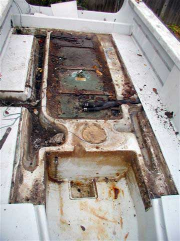 Classic Whaler Boston Whaler Reference Center Deck Repair