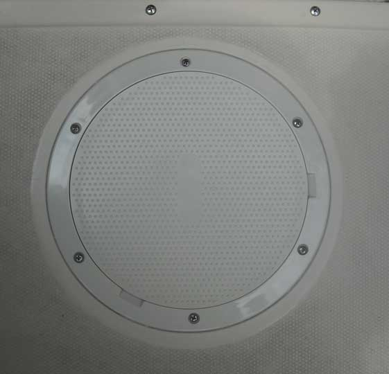 Image of replacement deck pry-out access plate.