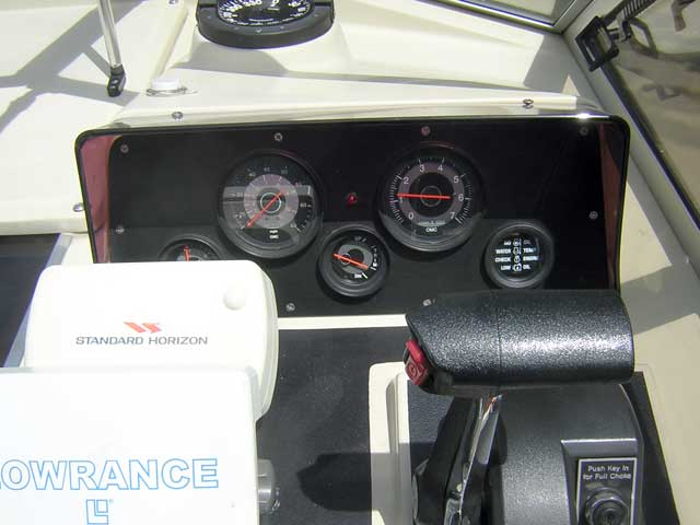 Photo: The original instrument panel with existing gauges.